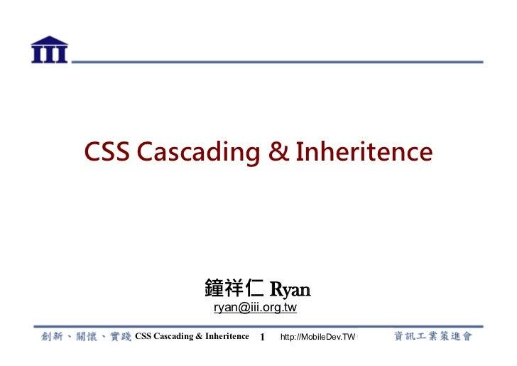 CSS Cascading & Inheritance
