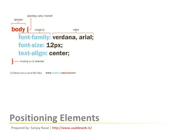 Css Positioning Elements