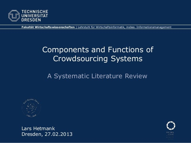 Components and Functions of Crowdsourcing Systems –  A Systematic Literature Review