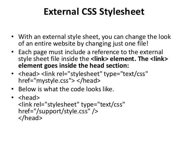 how to use external css in html codes