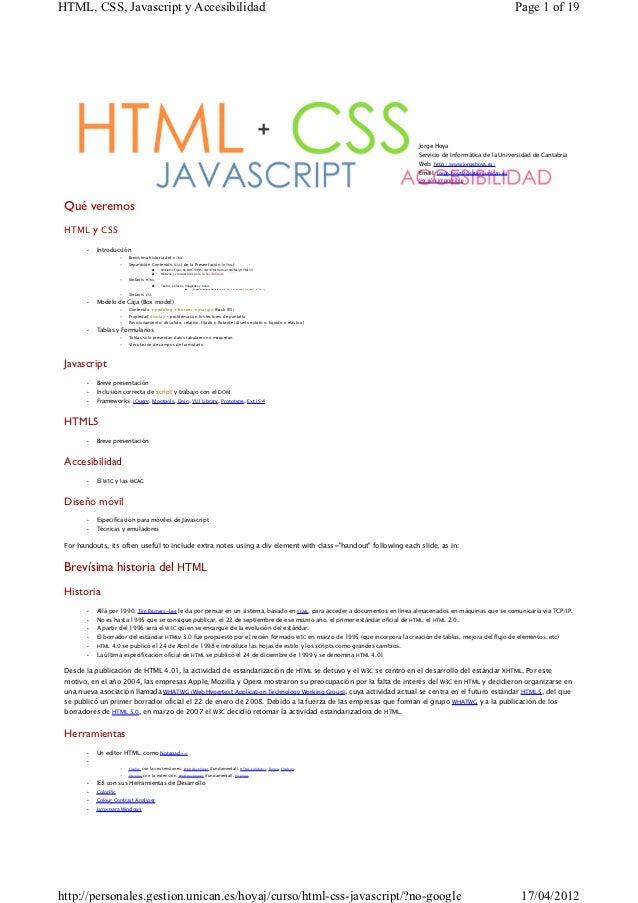 HTML, CSS, Javascript y Accesibilidad                                                                                     ...