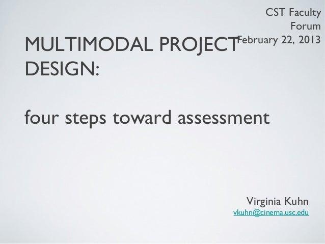 CST Faculty                                   ForumMULTIMODAL PROJECT      February 22, 2013DESIGN:four steps toward asses...