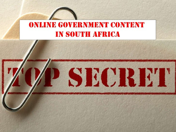 online Government ContenT      in South africa