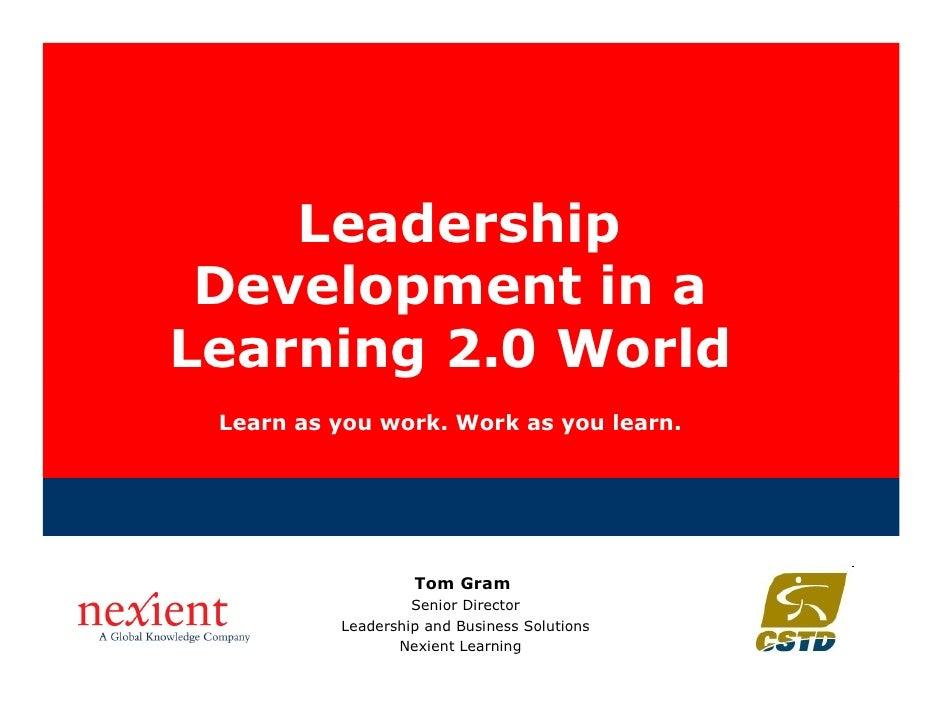 Leadership Development in a Learning 2.0 World