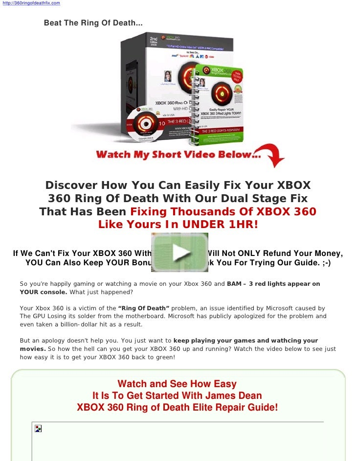 http://360ringofdeathfix.com                       Beat The Ring Of Death...                       Discover How You Can Ea...