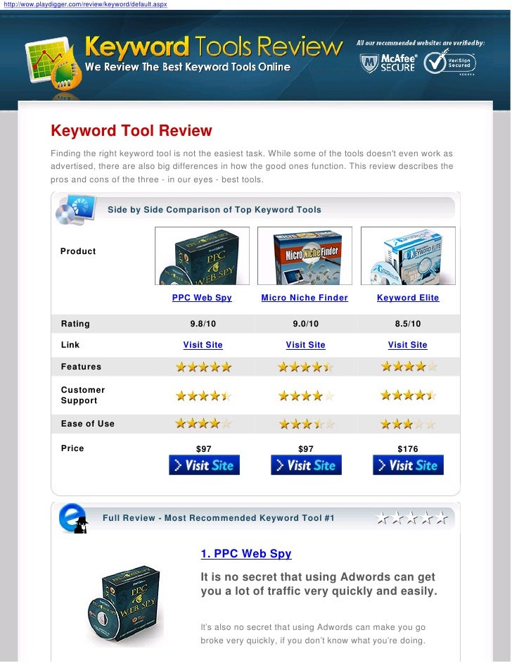 http://wow.playdigger.com/review/keyword/default.aspx                    Keyword Tool Review                Finding the ri...