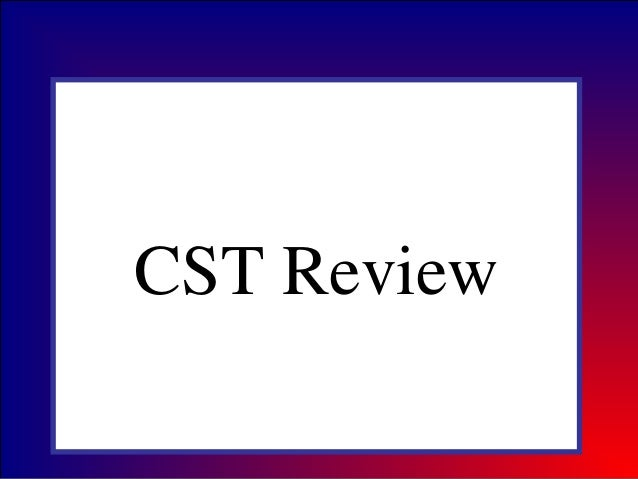 CST Science Review 2013