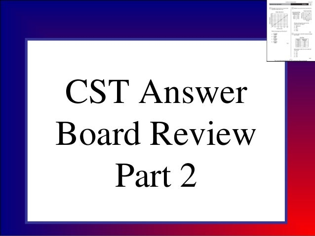 CST AnswerBoard ReviewPart 2
