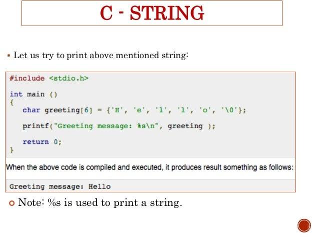 String In Programming Language In C Or C