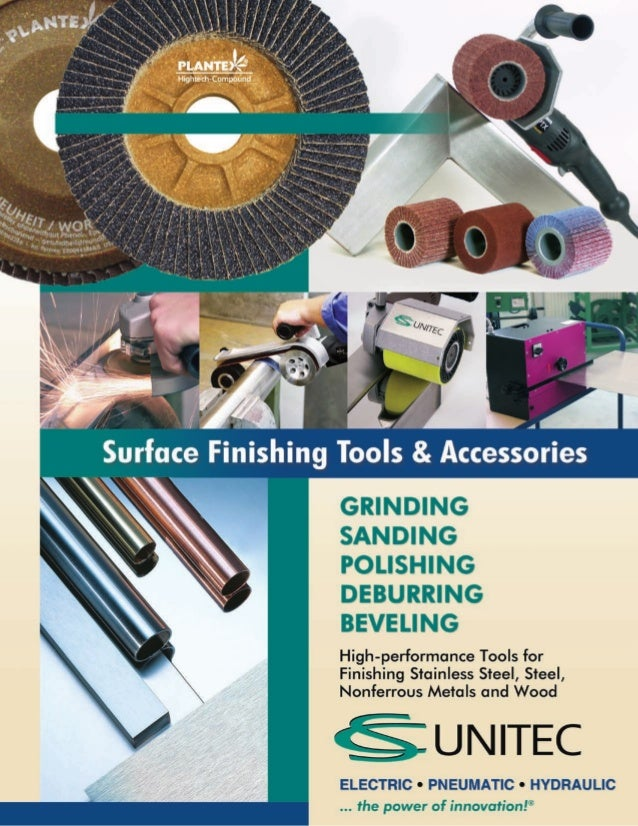 CS Unitec's Catalog of Surface Finishing Tools and Accessories