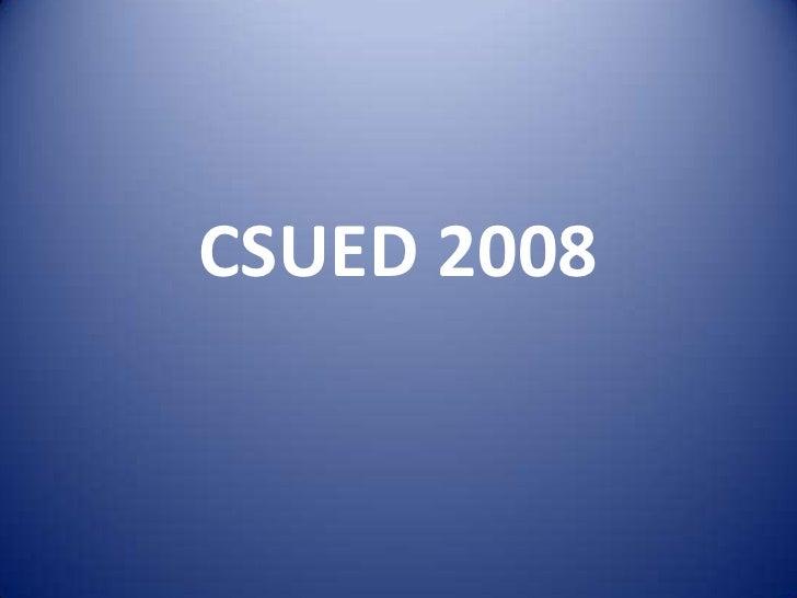 Csued 2008 2