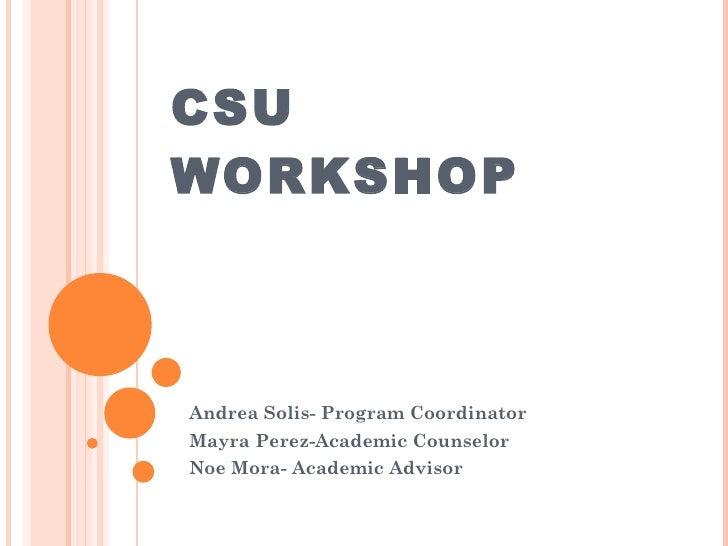 CSU Month 2
