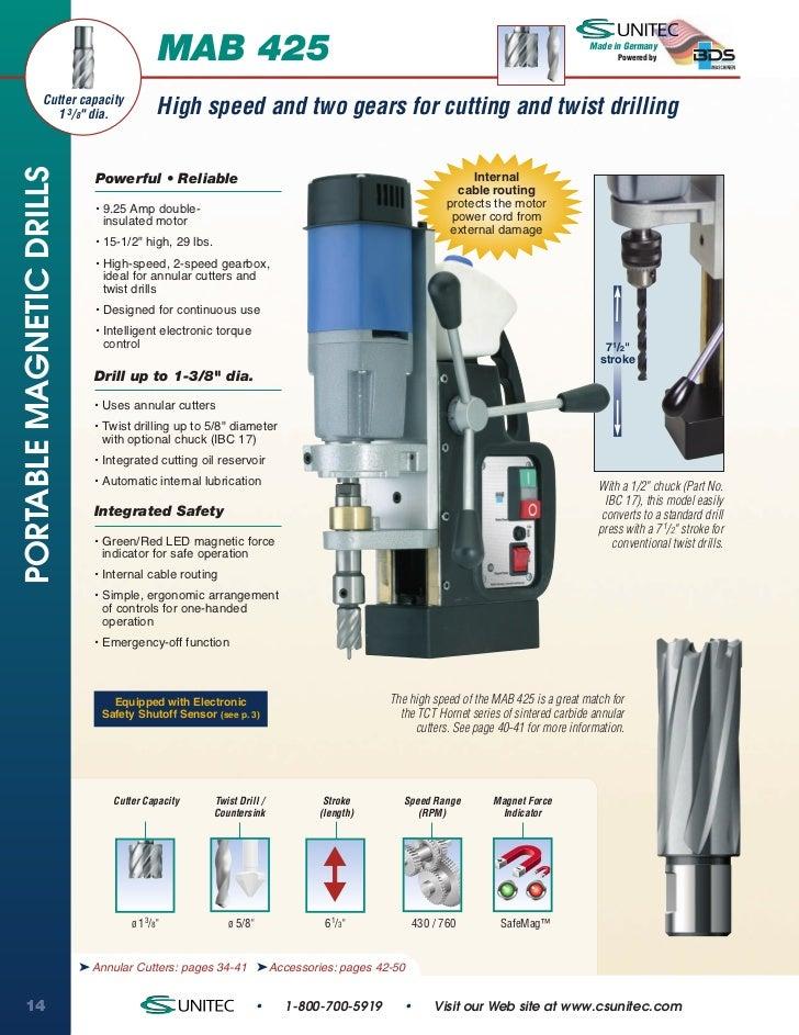 CS Unitec MAB 425 Portable Magnetic Drill