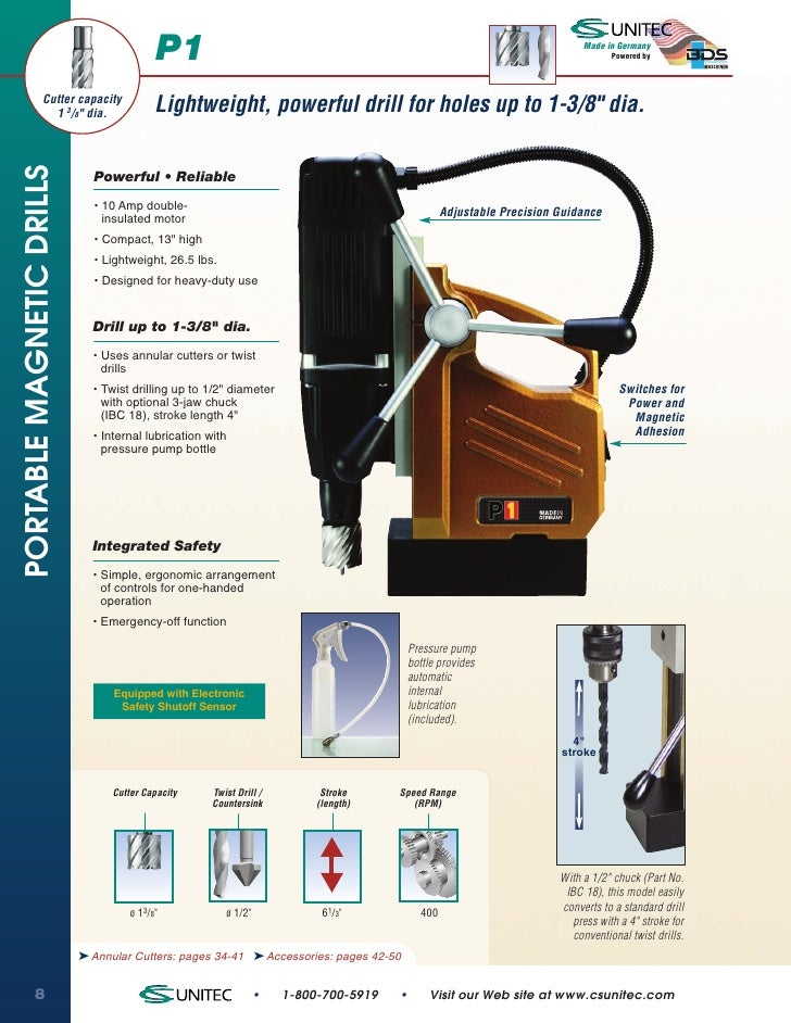CS Unitec P1 Portable Magnetic Drills