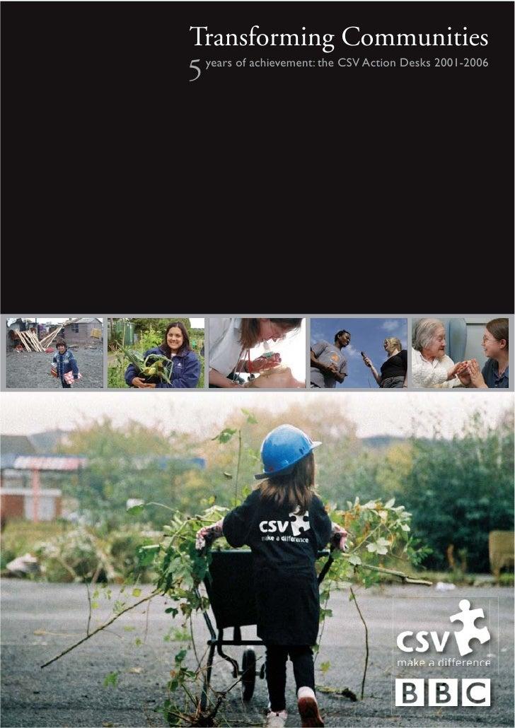 CSV BBC 5th anniversary publication