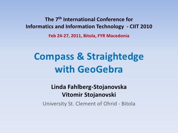 Compass+Straightedge with GeoGebra