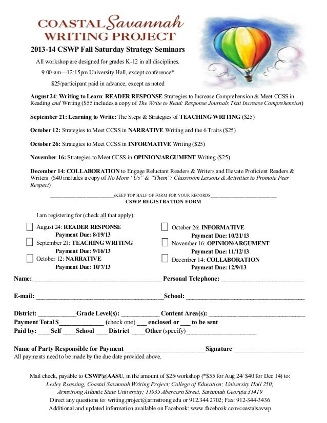 CSWP 2013-14 Workshops & Conference flyer