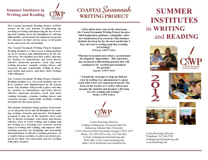Summer Institutes inWriting and Reading                                                                                   ...