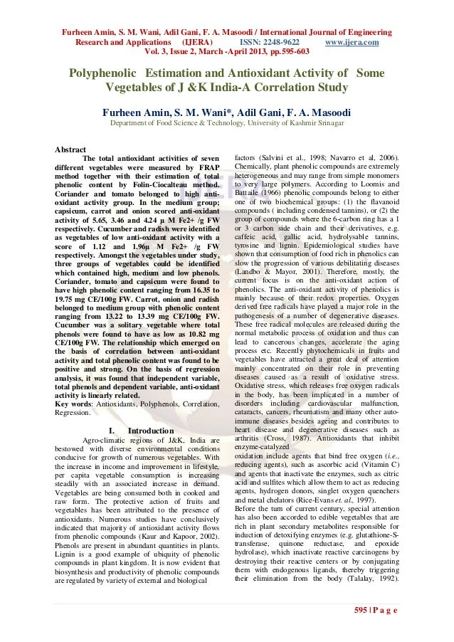 Furheen Amin, S. M. Wani, Adil Gani, F. A. Masoodi / International Journal of Engineering     Research and Applications (I...