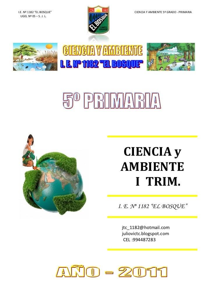 CIENCIA Y AMBIENTE- I_ 5º