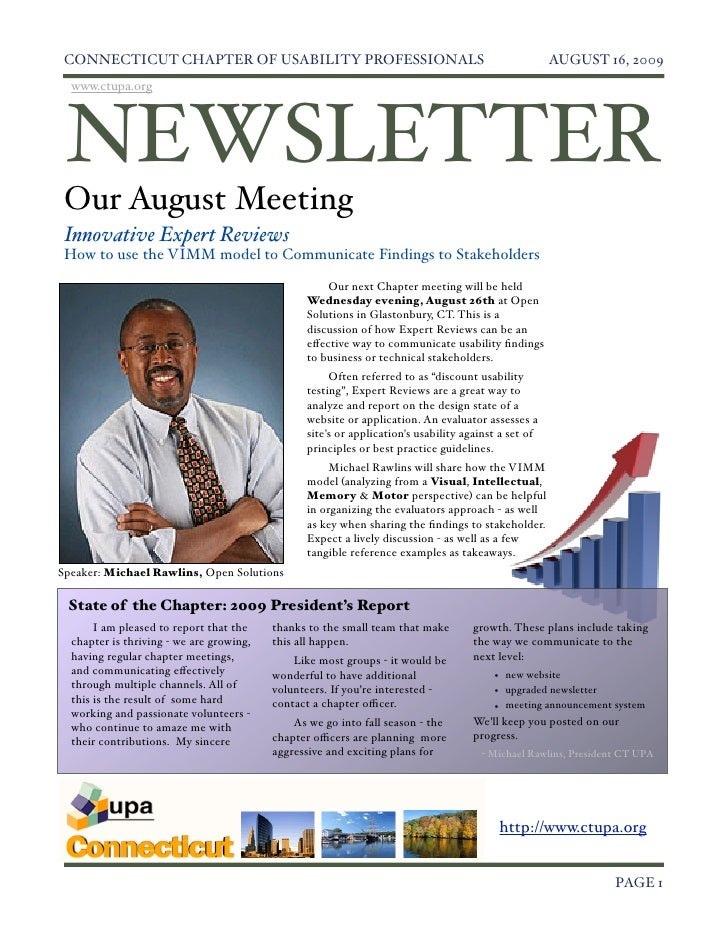 Ct August 2009 Newsletter