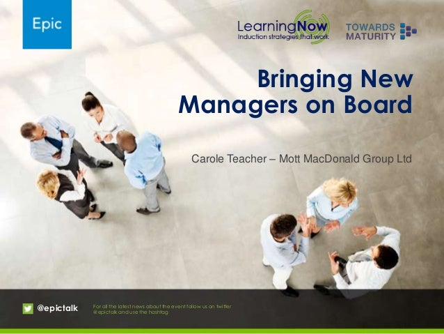 Bringing new managers on board