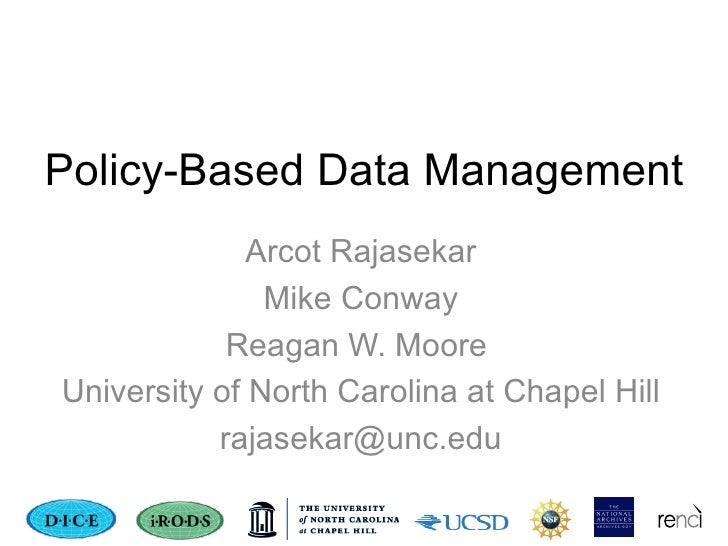 Policy-based Data Management