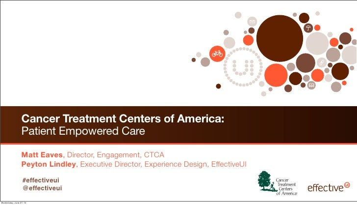 Cancer Treatment Centers of America:                 Patient Empowered Care                 Matt Eaves, Director, Engageme...