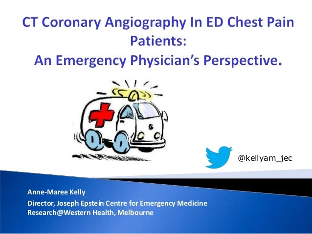CT coronary angiography in ED chest pain patients
