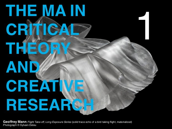 Critical Theory and Creative Research: Key Thinkers, Key Texts, Key Ideas
