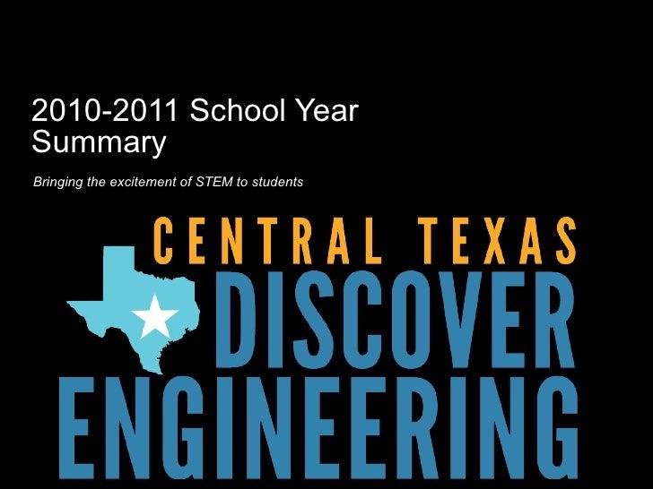CTDE 2010 2011 school year report