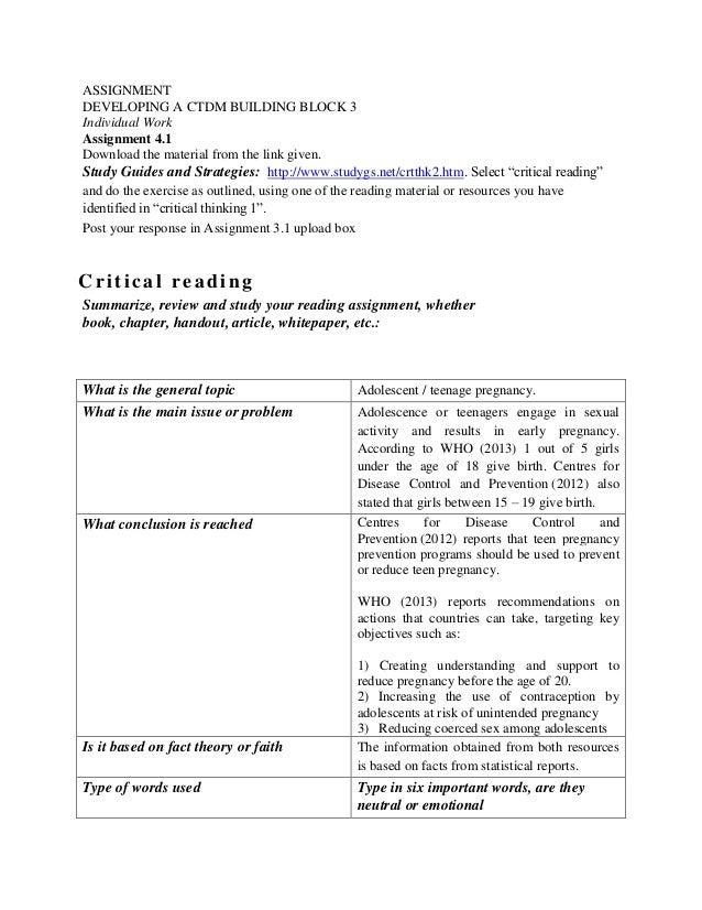 Ctdm assignment 4.1
