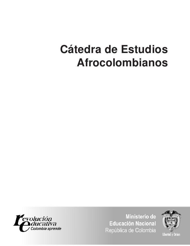 Cátedra de Estudios    Afrocolombianos