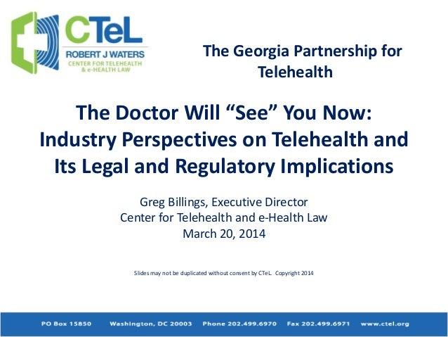 C te l-georgia partnership for telehealth march 2014