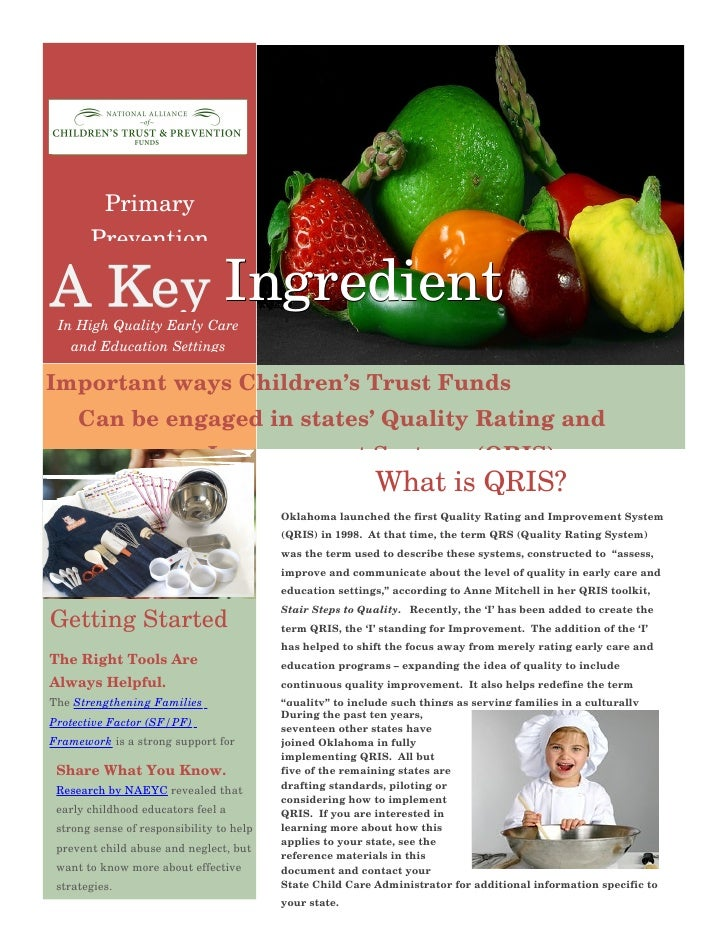 Primary         Prevention  AKey Ingredient  InHighQualityEarlyCare     andEducationSettings  ImportantwaysChil...