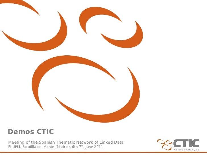 Demos CTIC