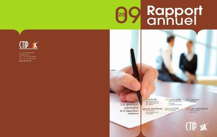 0920                       Rapport                         annuel             08      10 L'activité                       ...