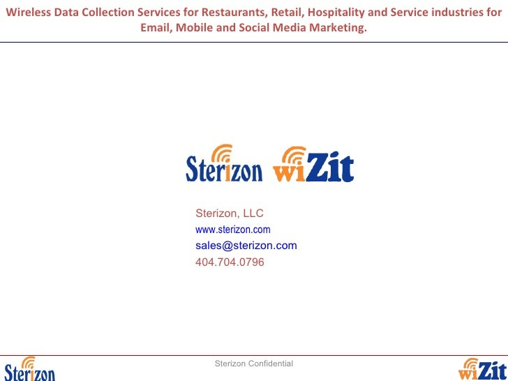 Wireless Data Collection Services for Restaurants, Retail, Hospitality and Service industries for Email, Mobile and Social...