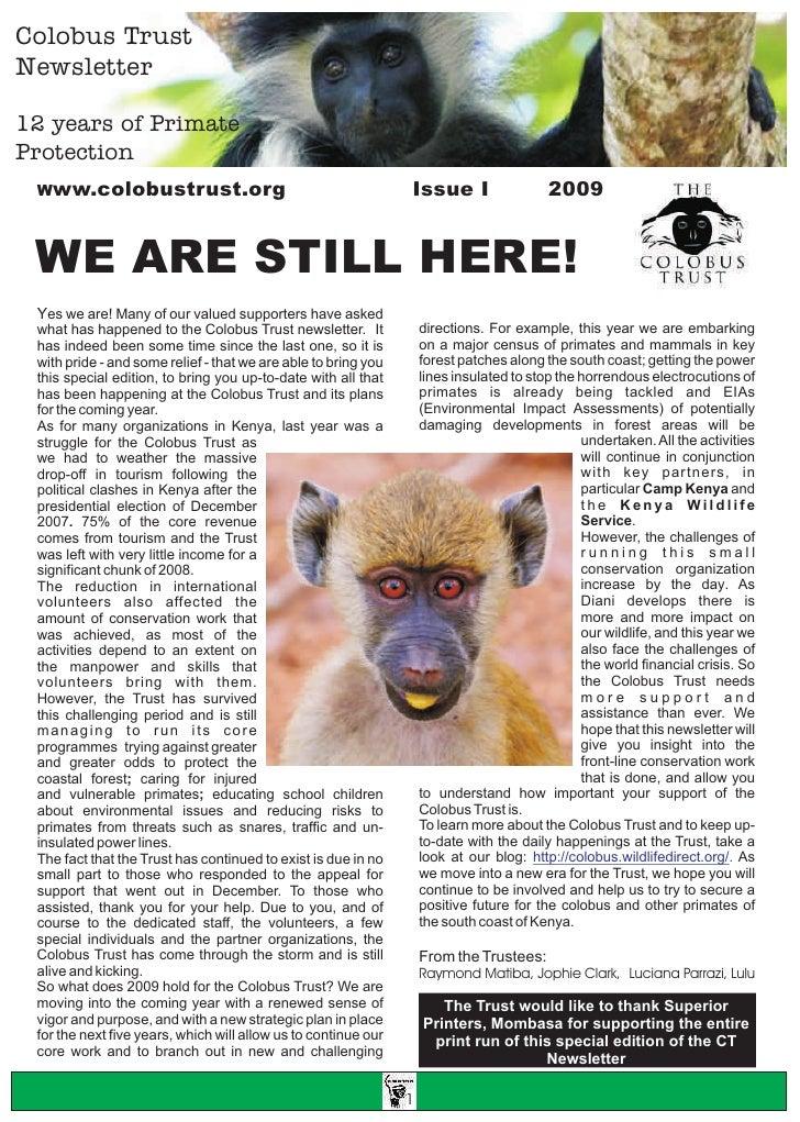 CT Newsletter Issue 1 2009