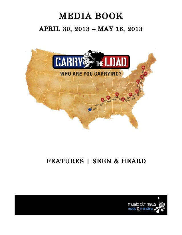 Carry The Load National Relay 2013 Press