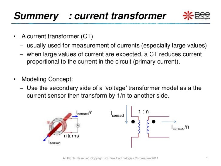 SPICE Model of Current Transformer
