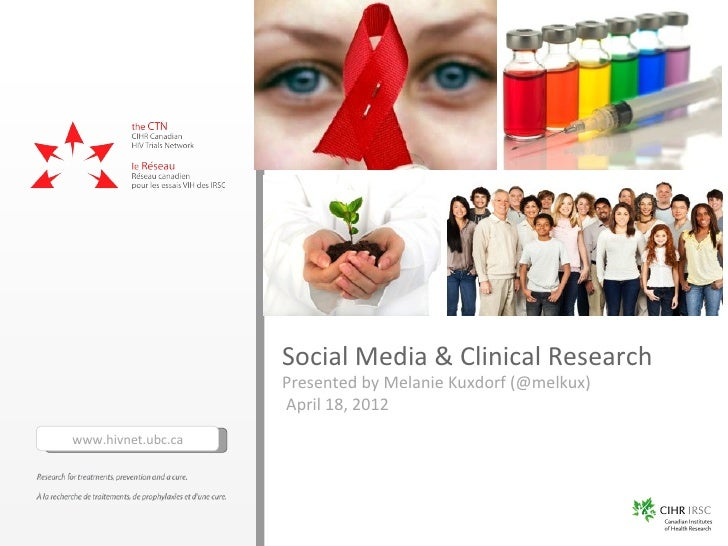 Social Media & Clinical Research                    Presented by Melanie Kuxdorf (@melkux)                    April 18, 20...