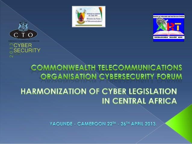 CTO Cybersecurity Forum 2013 Justin Aime Tsanga Ebode