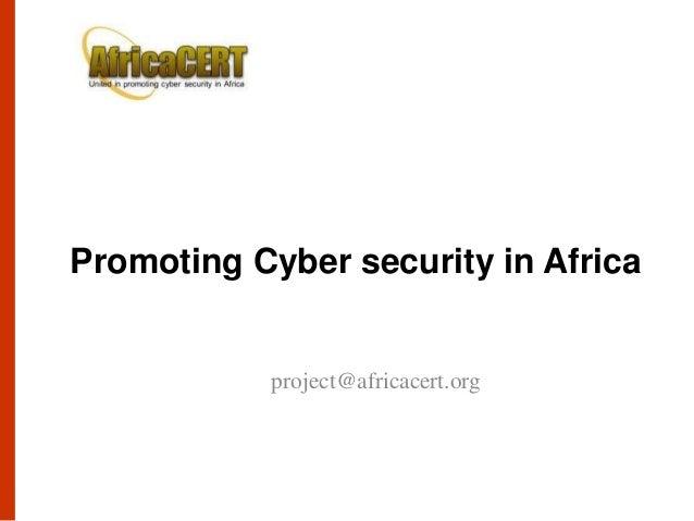 CTO Cybersecurity Forum 2013 Pierre Dandjinou Promoting Cybersecurity in Africa