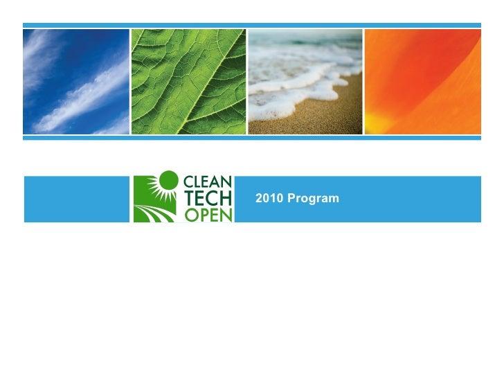 CleanTech Open Overview