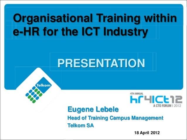 CTO presentation Eugene Lebele