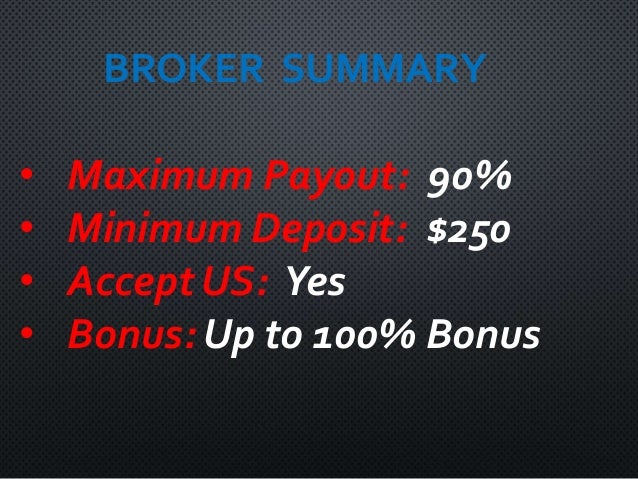 Binary options broker demo chip