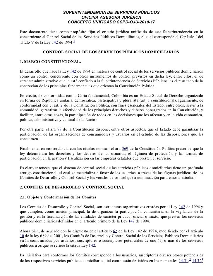 SUPERINTENDENCIA DE SERVICIOS PÚBLICOS                                 OFICINA ASESORA JURÍDICA                           ...
