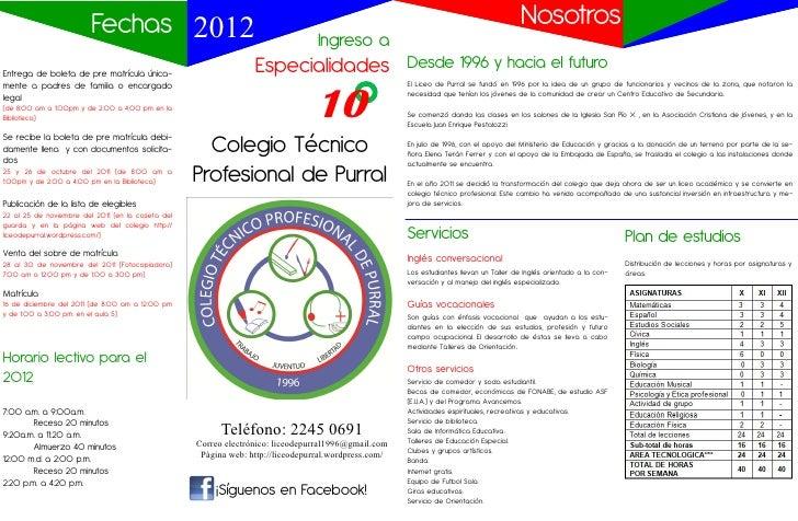 Fechas 2012                                                                                                     Nosotros  ...