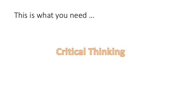 What is critical thinking in education